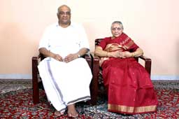 Sri K.C. Narayana with his wife Smt. K.C. Santha